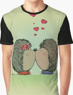 Hedgehogs in love Graphic T-Shirt