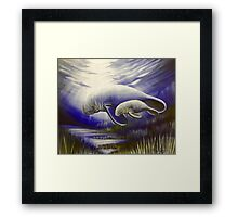 Mother and Son Manatees  Framed Print