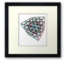 3D Puzzle Cube Framed Print