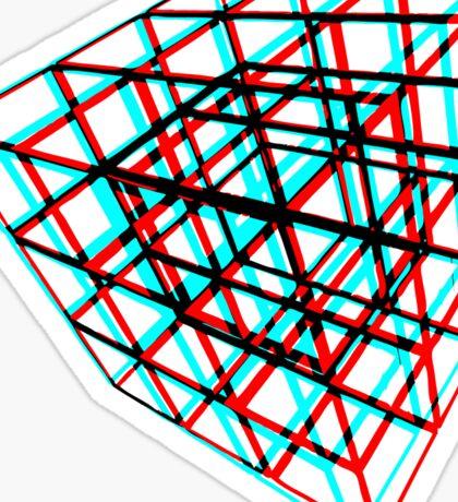 3D Puzzle Cube Sticker