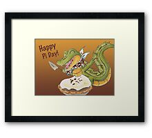 Pi Day Pie Framed Print