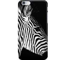 Zebra In the Night iPhone Case/Skin