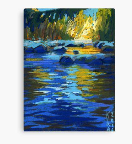 Lynn Creek. Golden Water. North Vancouver Canvas Print