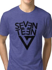 Seventeen text + logo Tri-blend T-Shirt