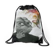 Pepe at the disco Drawstring Bag