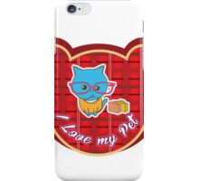 I love my Pet - Red Collor iPhone Case/Skin