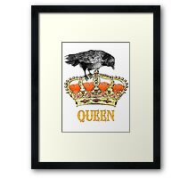 The Queen crown  Framed Print