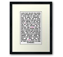 Epic Declaration Framed Print