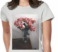 Charm in Cerise Womens Fitted T-Shirt
