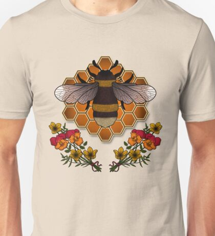 The Bumble Bee & his Honeycomb Unisex T-Shirt