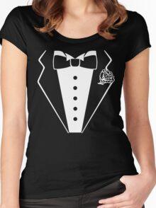 T-shirt Tuxedo Women's Fitted Scoop T-Shirt