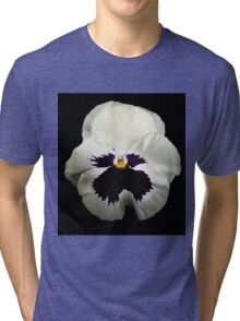 Face of a Glowing White Pansy Tri-blend T-Shirt