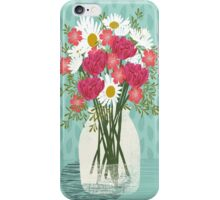 Vase of Daisies illustration Mother's Day art print Andrea Lauren Floral flowers spring summer garden iPhone Case/Skin