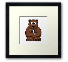 Cartoon Bear Framed Print
