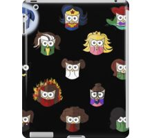 Nerd Girl (Owls) - Black iPad Case/Skin