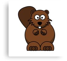 Cartoon Beaver Canvas Print