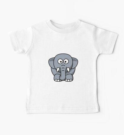Cartoon Elephant Baby Tee