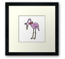 Cartoon Flamingo Framed Print