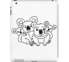 sweet little baby koala cute mamapapa 2 children couple sitting family iPad Case/Skin