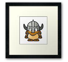 Cartoon Gnu Knight Framed Print