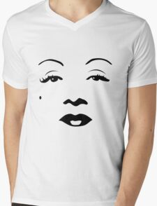 Old Hollywood - Marlene Dietrich Mens V-Neck T-Shirt