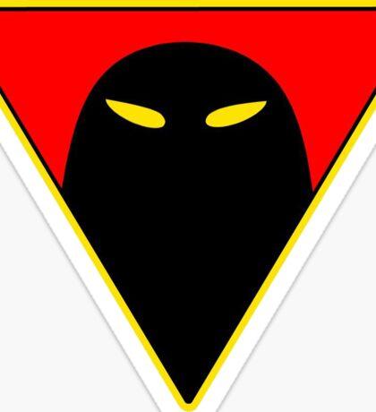 Space Ghost - Chest Symbol - Black Clean Sticker