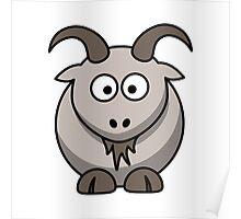 Cartoon Goat Poster