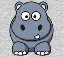 Cartoon Hippopotamus One Piece - Short Sleeve