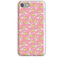 Low Down - abstract bananas fruit print triangles geometric memphis throwback neon retro 1980s design  iPhone Case/Skin
