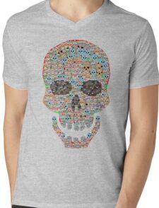 Crâne Mens V-Neck T-Shirt