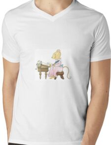 LETTER MOUSE Mens V-Neck T-Shirt