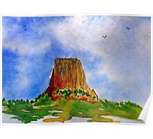 THE DEVIL'S TOWER - WYOMING - USA Poster