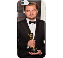 Leonardo DiCaprio with the Oscar iPhone Case/Skin