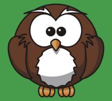 Cartoon Owl One Piece - Short Sleeve