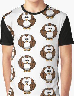 Cartoon Owl Graphic T-Shirt