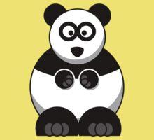 Cartoon Panda Bear Kids Tee