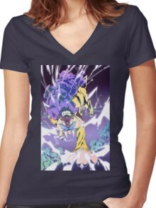 Wild charge Women's Fitted V-Neck T-Shirt