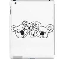 sweet little baby koala cute mamapapa 2 children couple faces heads family iPad Case/Skin