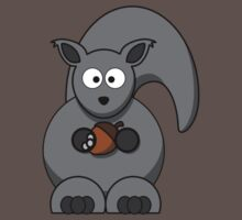 Cartoon Squirrel Baby Tee
