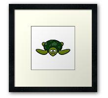 Cartoon Turtle Framed Print