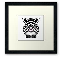 Cartoon Zebra Framed Print
