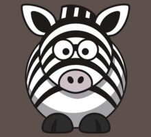 Cartoon Zebra One Piece - Short Sleeve