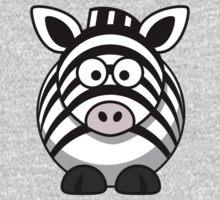 Cartoon Zebra One Piece - Short Sleeve