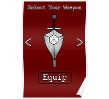 D&D Select Your Weapon:Sword&Shield Poster