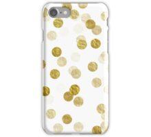 Gold Dots Faux Foil Metallic Dot Background Pattern  iPhone Case/Skin