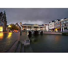 Leiden canal bridge  Photographic Print