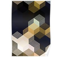 CUBE 1 GOLD & BLACK Poster
