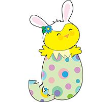 Easter Bunny Chick Photographic Print