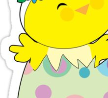 Easter Bunny Chick Sticker