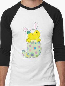 Easter Bunny Chick Men's Baseball ¾ T-Shirt